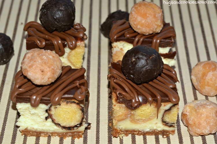 glazed doughnuts cheesecake squares