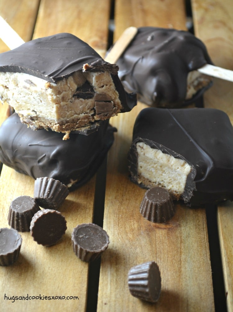 peanut butter pie pops dipped