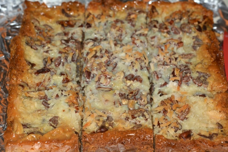 seven layer bars coconut
