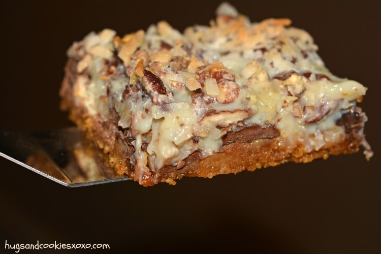 seven layer coconut chocolate candy bars