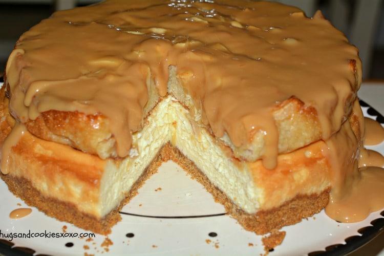 apple caramel cheesecake layers