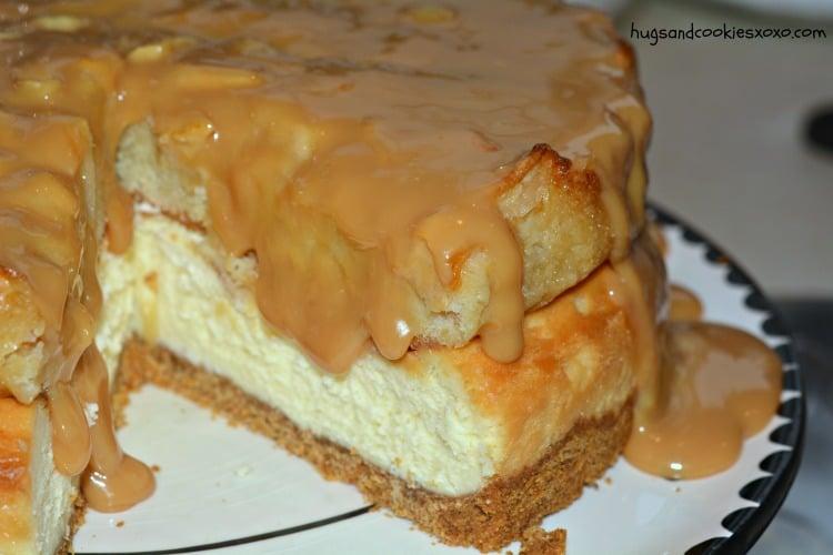 apple caramel pie layered cheesecake