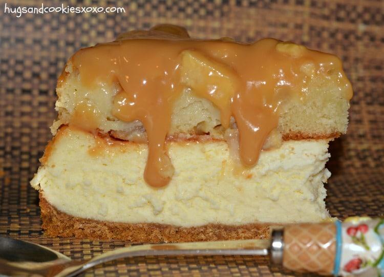 apple pie cheesecake slice