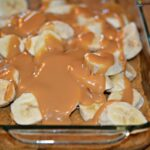 Caramel Banana Slab Pie