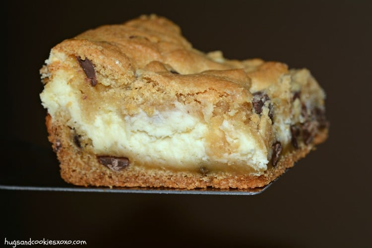 Cheesecake Stuffed Cookie Bars - Hugs and Cookies XOXO