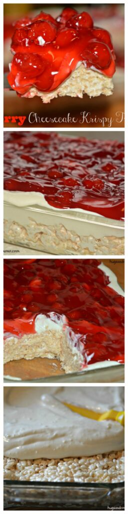 cherry cheesecake collage