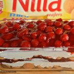 No-Bake Cherry Cheesecake Cookie Lasagna