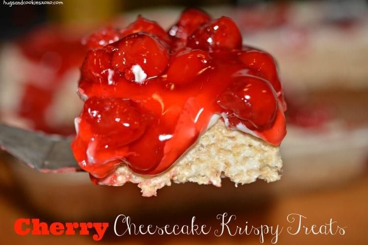 cherry cheesecake krispy treat