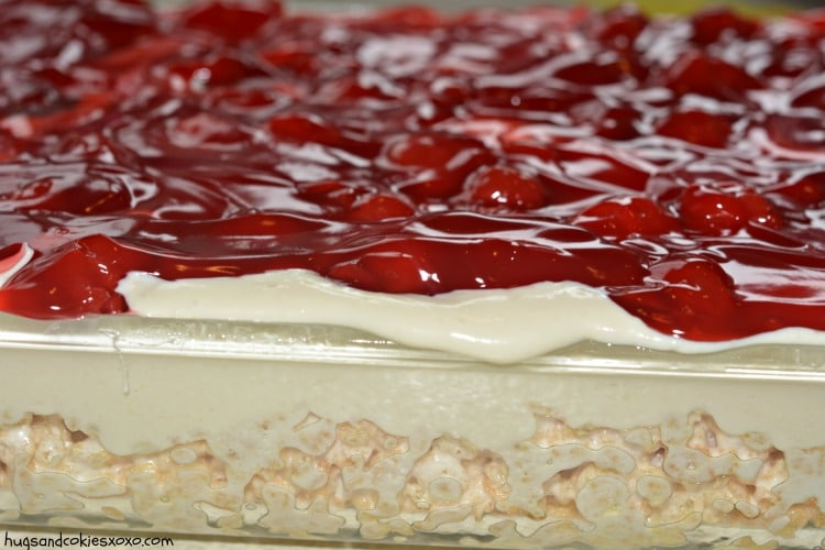 cherry cheesecake krispy treats