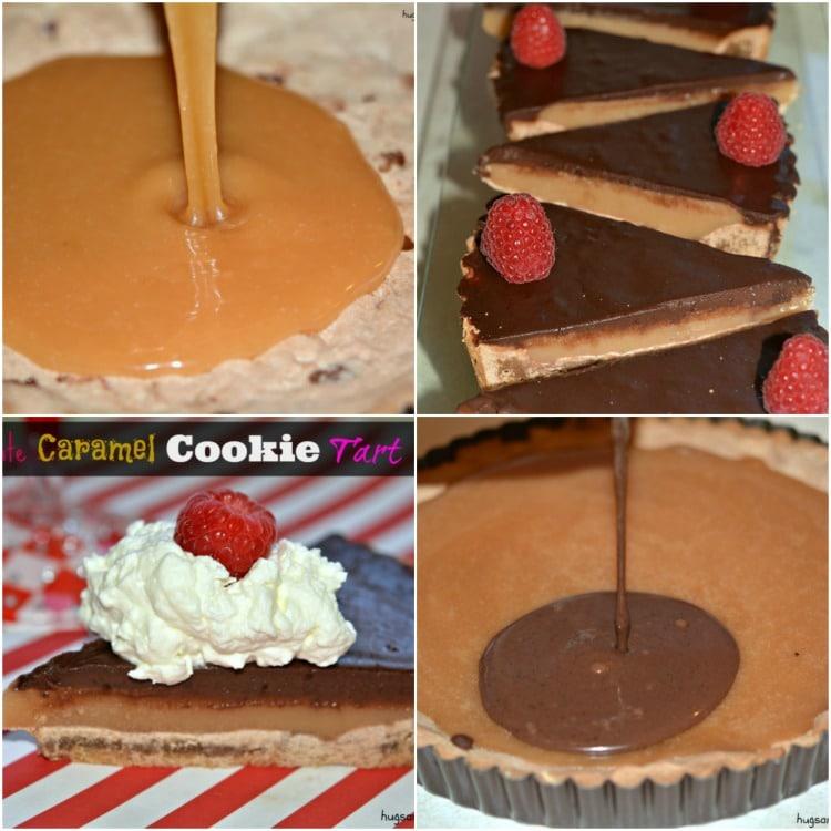chocolate caramel cookie tart dessert