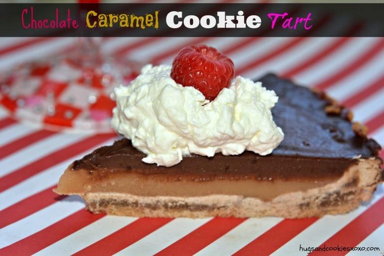 chocolate caramel cookie tart