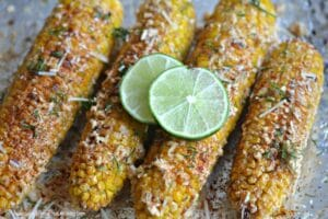 Cheesy Chili Lime Street Corn