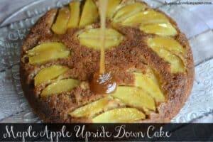 Maple Apple Upside Down Skillet Cake