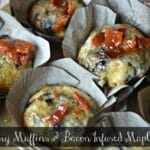 Blueberry Pancake Muffins With Bacon Infused Maple Syrup