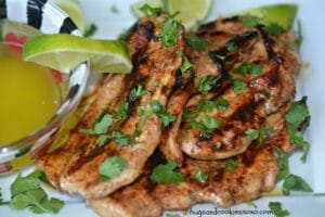 Grilled Chicken With Lime Butter