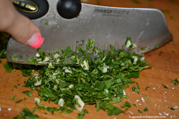 chicken parsley chopped