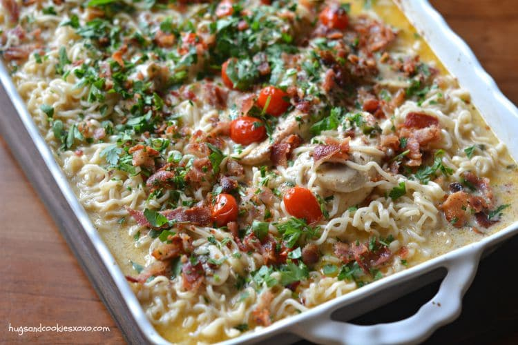 chicken ramen casserole