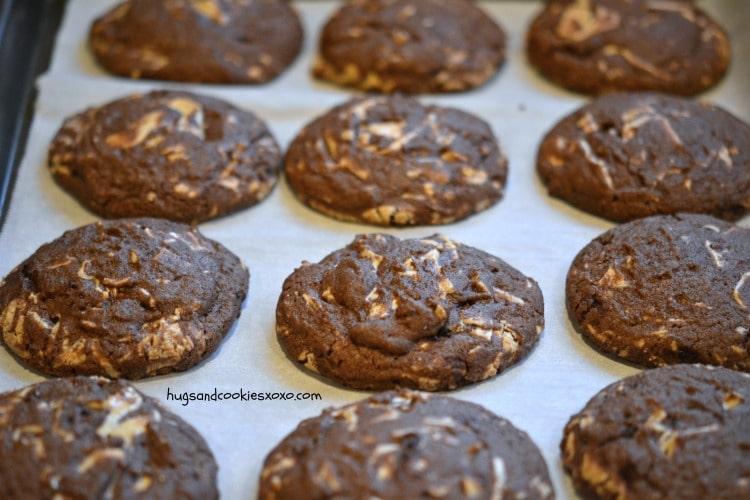 chocolate brown butter caramelized cookies