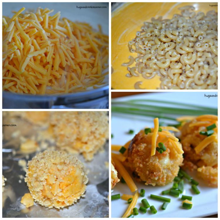fried macaroni and cheese chives
