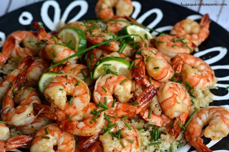 honey garlic shrimp zest lime