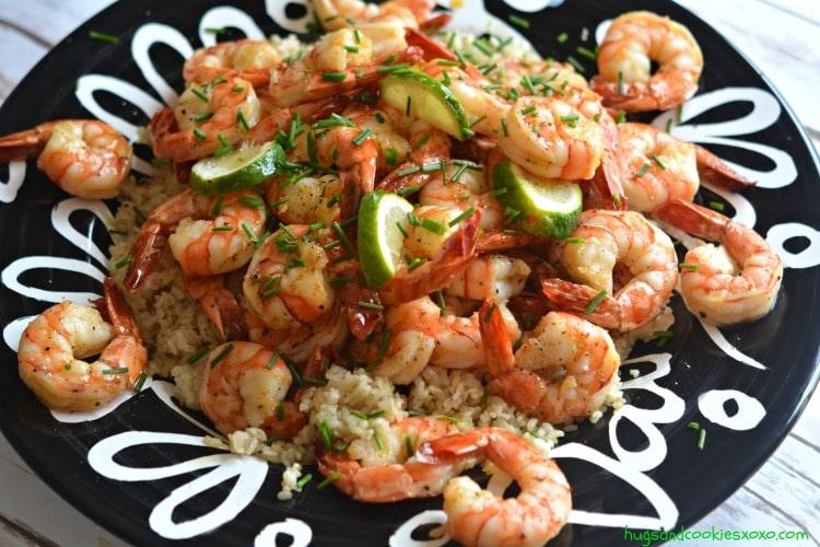 honey shrimp lime garlic zest