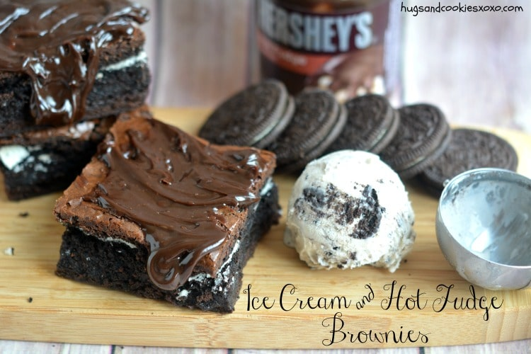 ice cream brownies hot fudge