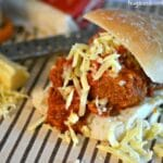 Crockpot Meatball Parm Sandwiches