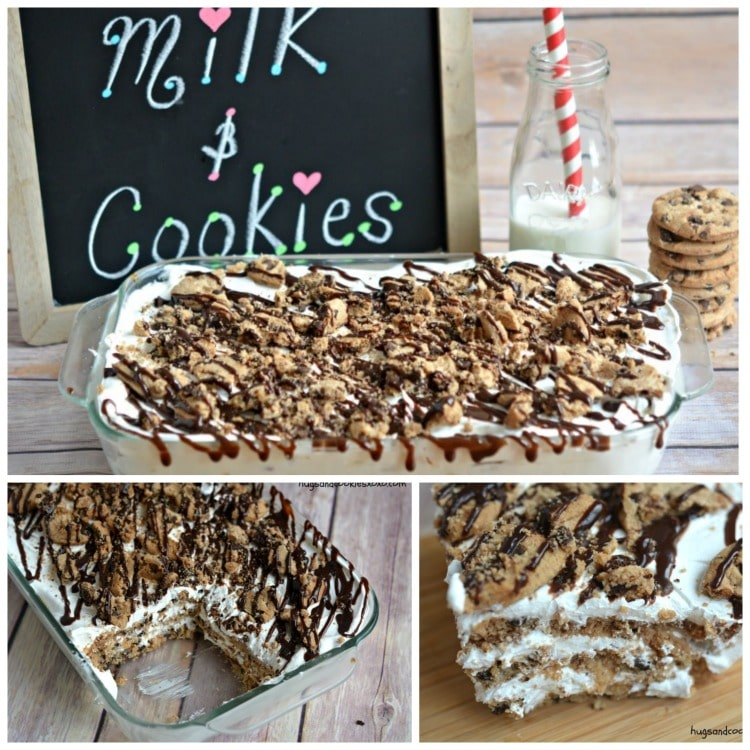 milk and cookies lasagna ice box