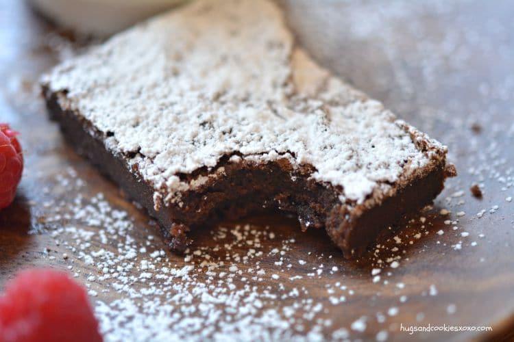 nutella brownie squares