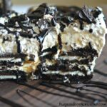Caramel Oreo Cheesecake Ice Box Cake