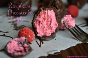 Raspberry Cheesecake Chocolate Truffles