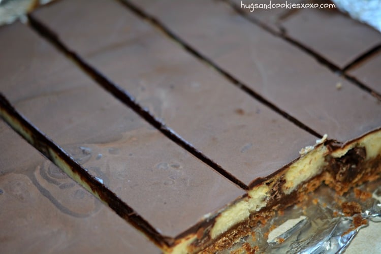 rolo cheesecake slab