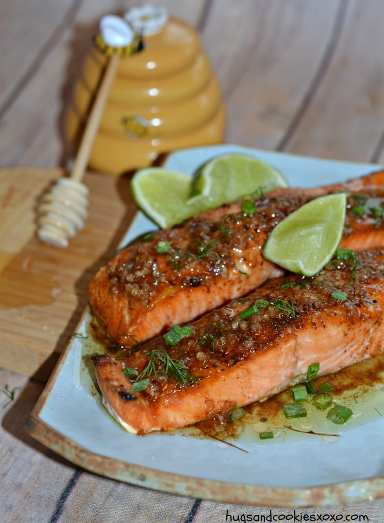 salmon butter brown garlic