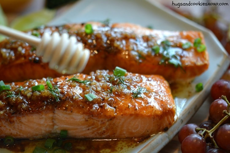 salmon lime honey garlic