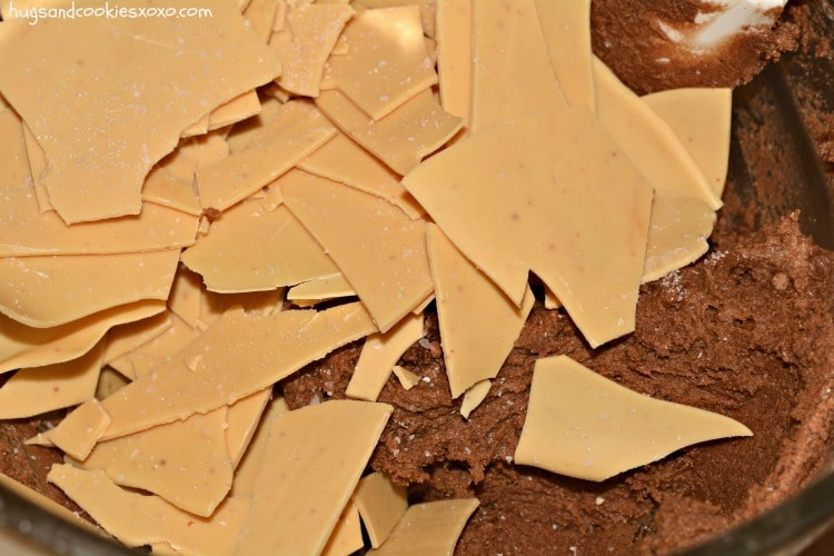 white chocolate cookie batter