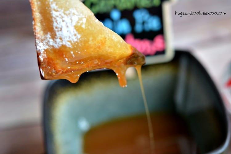 wontons apple dip caramel