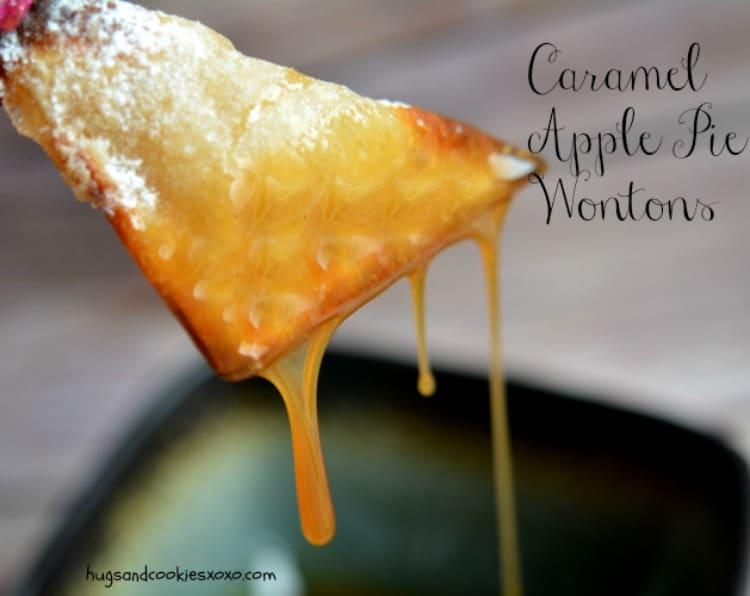 wontons apple pie caramels