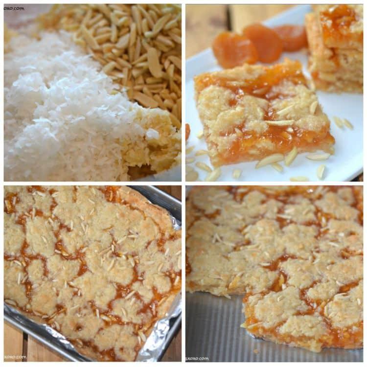 apricot almond coconut bars