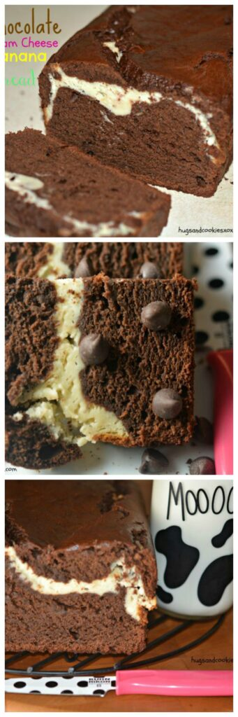 banana cream cheese chocolate bread