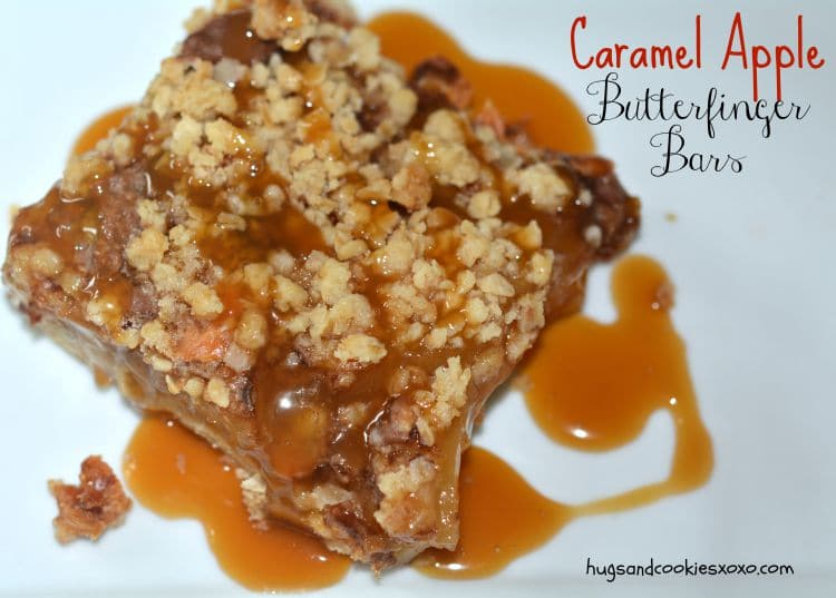 caramel apple butterfinger bar
