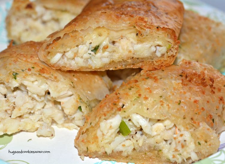 crab strudel buttery