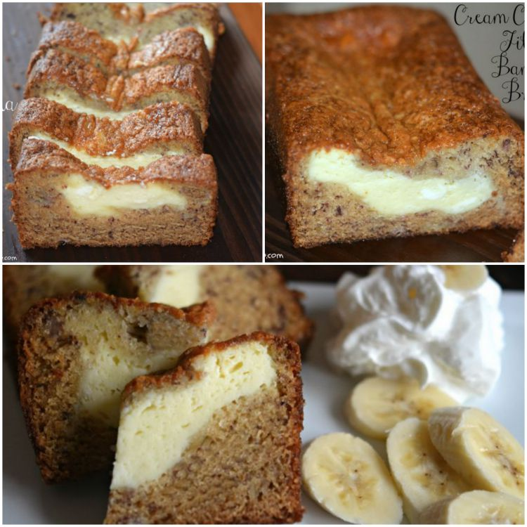 cream cheese filled banana bread