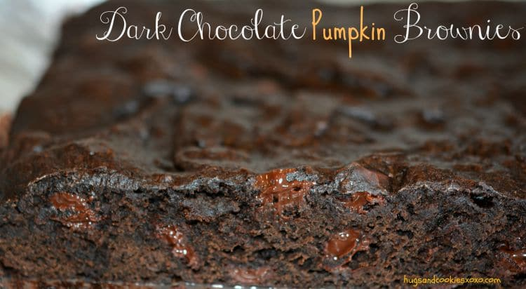 dark chocolate brownies pumpkin