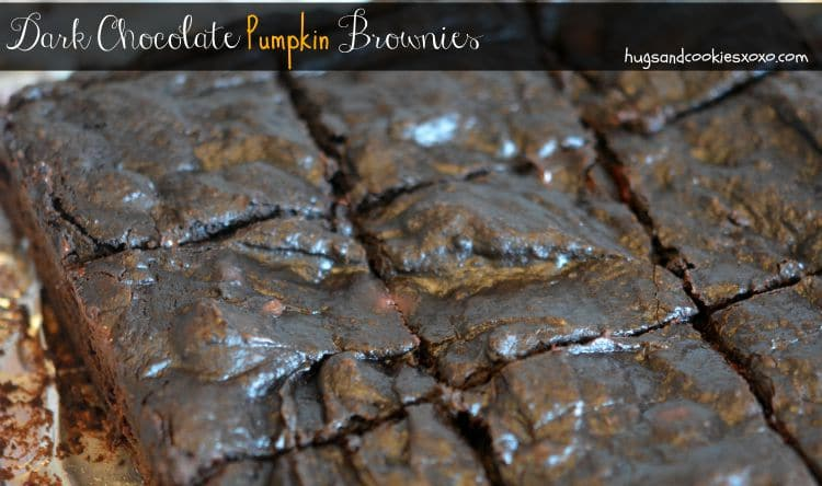 dark chocolate brownies with pumpkin