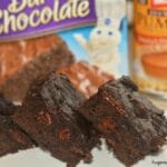 Dark Chocolate Pumpkin Brownies