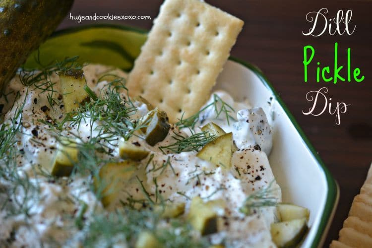 dill pickle dip appetizer