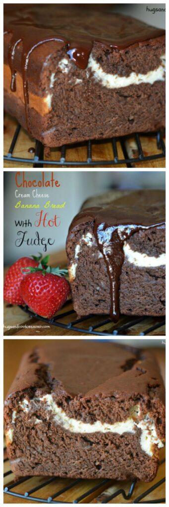 hot fudge cheesecake chocolate bread