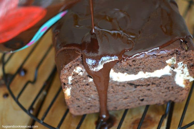 hot fudge cream cheese cake