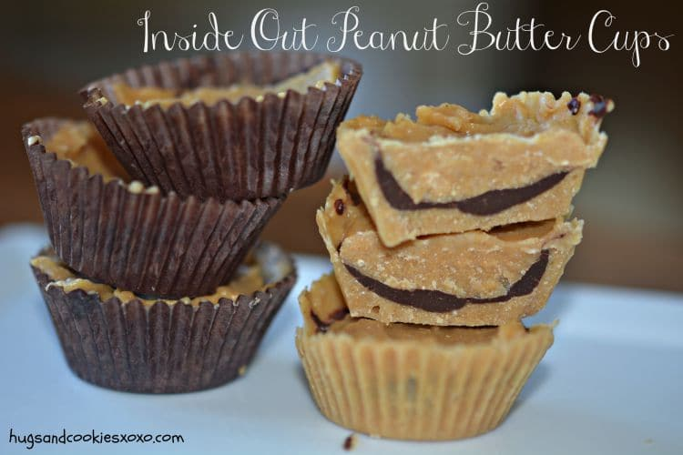 Inside Out Peanut Butter Cups - Hugs and Cookies XOXO