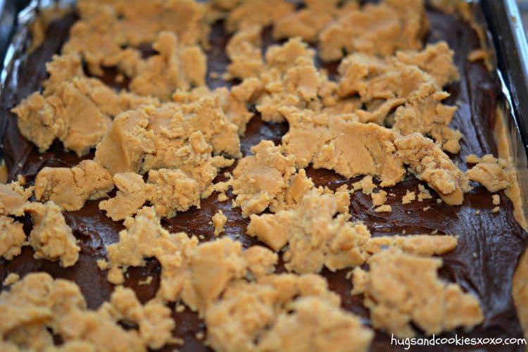 peanut butter bars and fudge